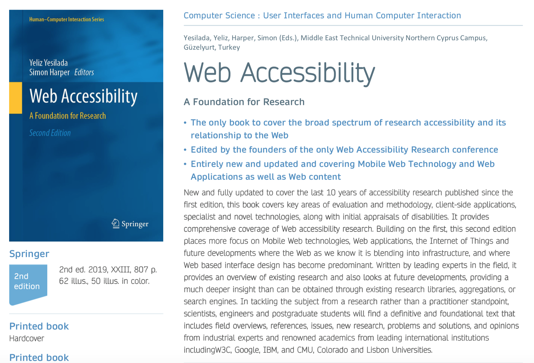 Web Accessibility Second Edition