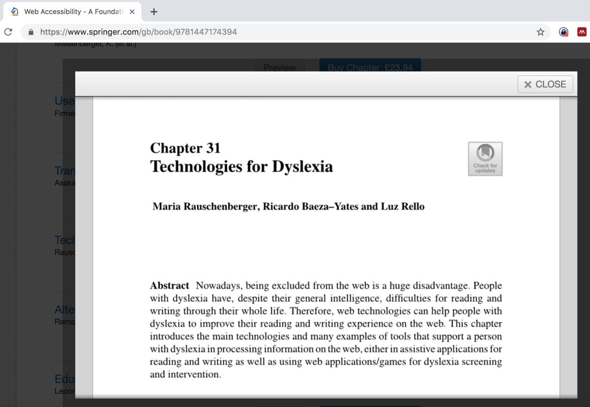 Technologies for Dyslexia